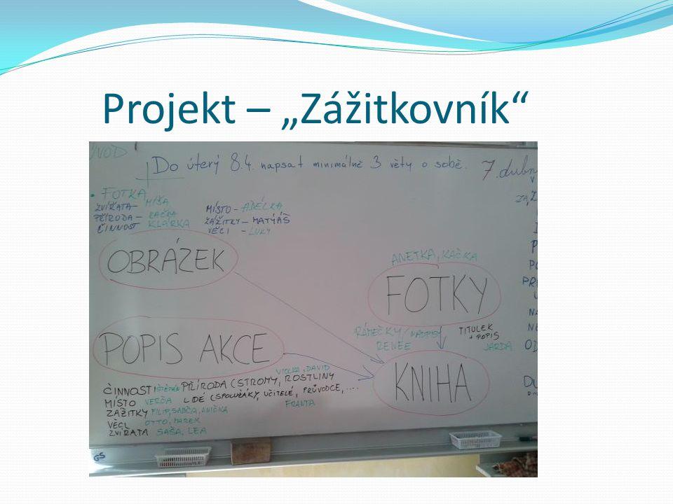 """Projekt – """"Zážitkovník"""