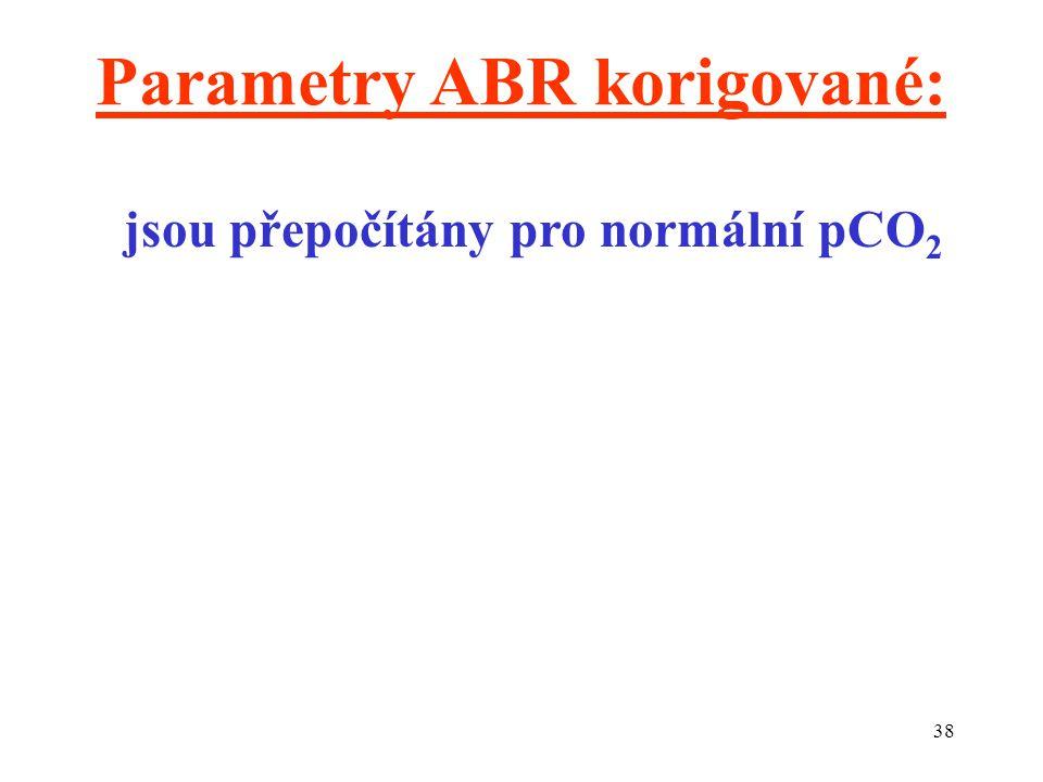 Parametry ABR korigované: