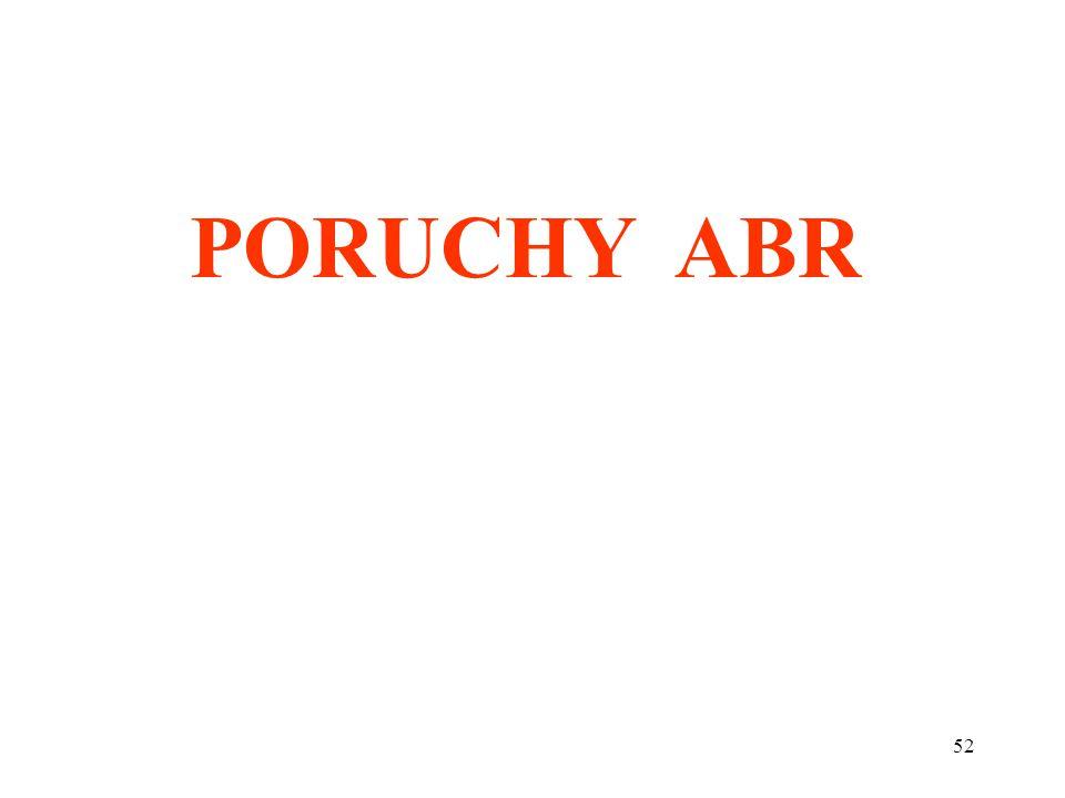 PORUCHY ABR