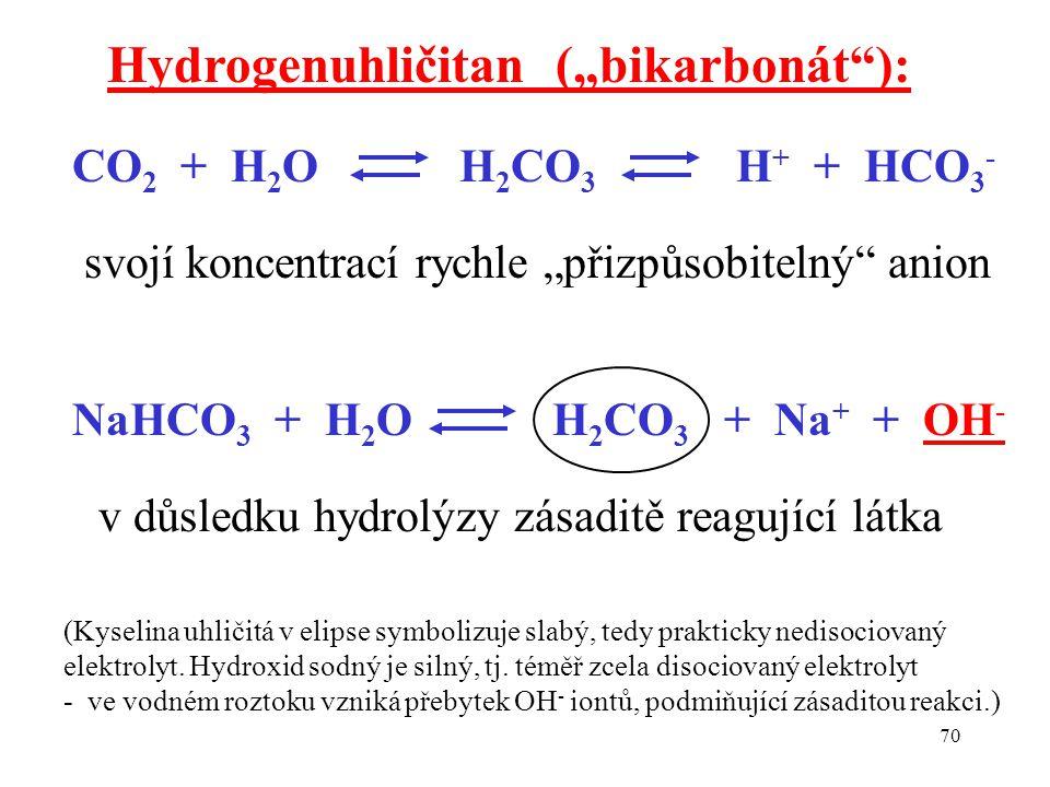 "Hydrogenuhličitan (""bikarbonát ):"