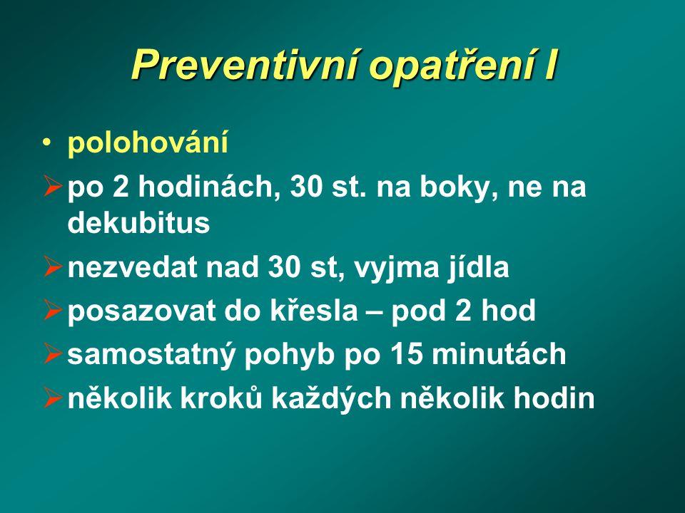 Preventivní opatření I