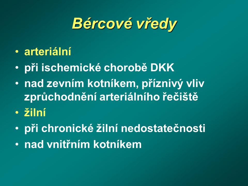 Bércové vředy arteriální při ischemické chorobě DKK