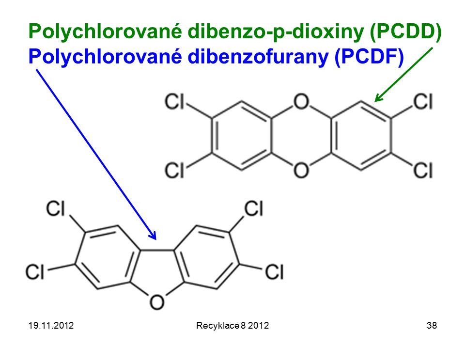 Polychlorované dibenzo-p-dioxiny (PCDD) Polychlorované dibenzofurany (PCDF)