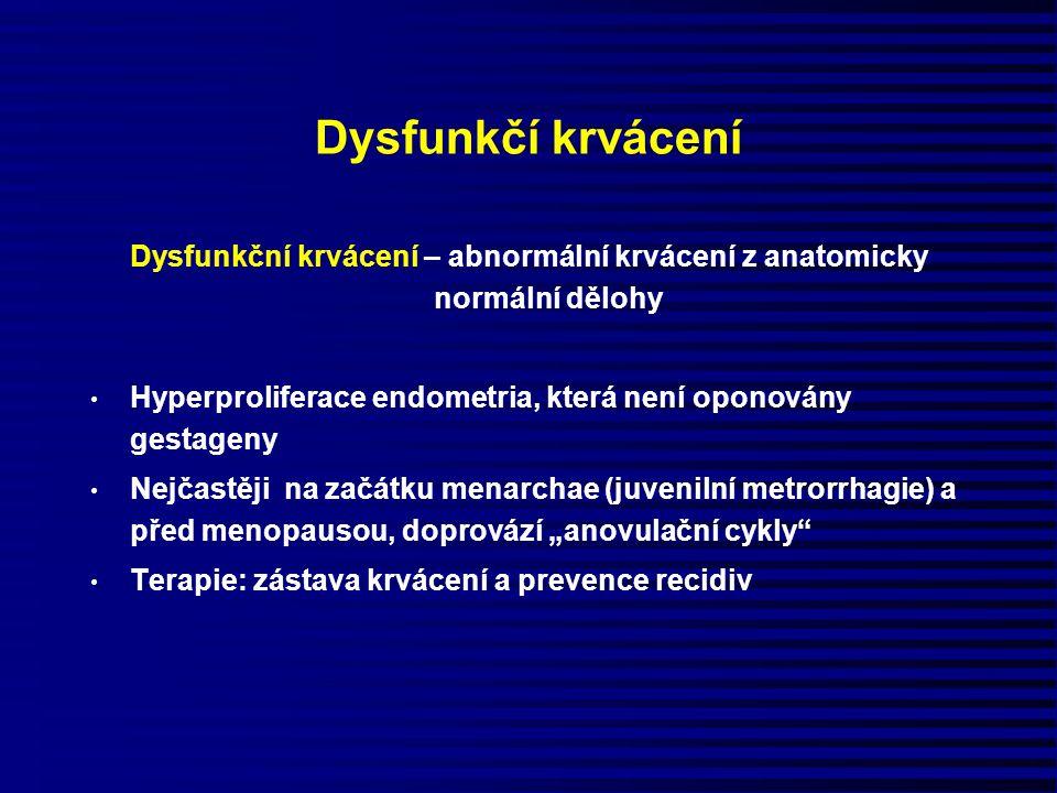 Dysfunkční krvácení – abnormální krvácení z anatomicky normální dělohy