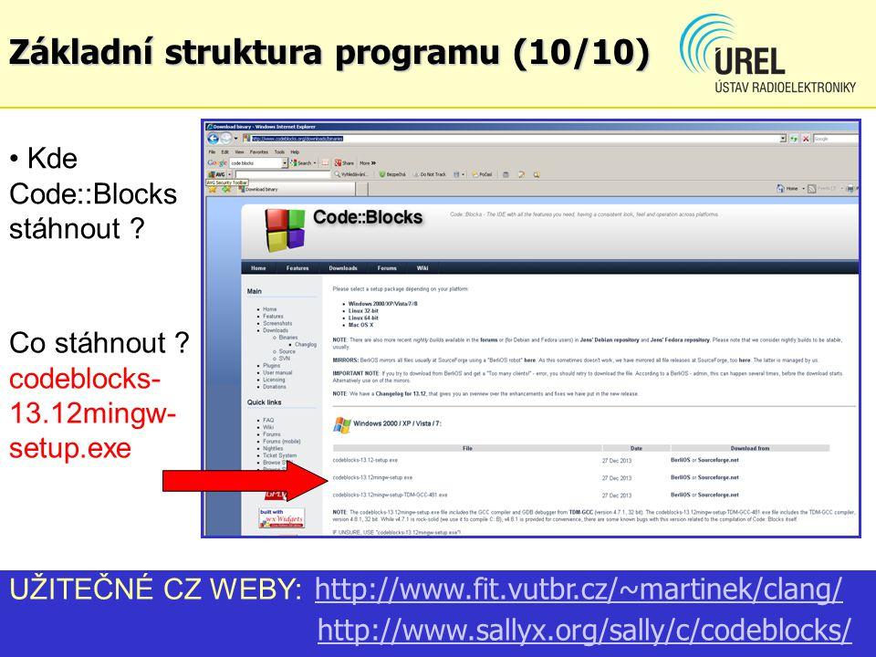 Základní struktura programu (10/10)