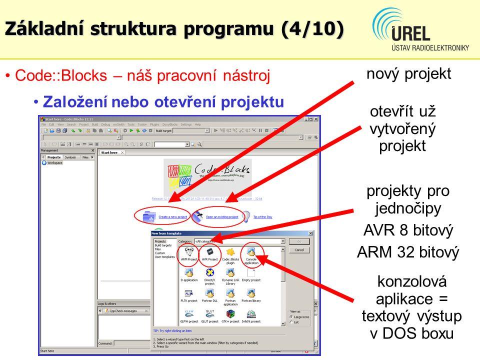 Základní struktura programu (4/10)