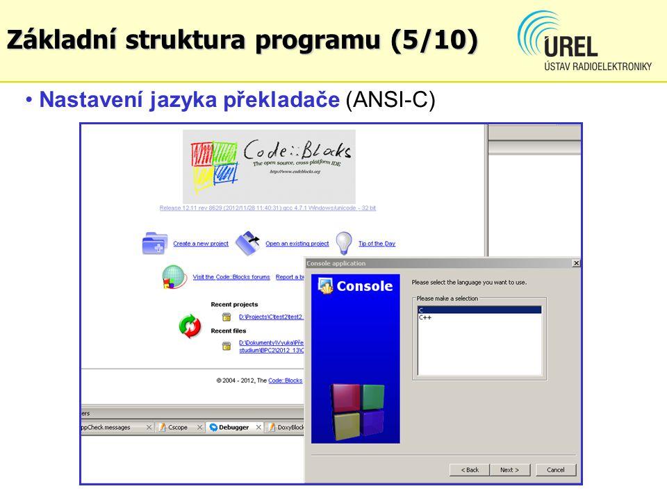 Základní struktura programu (5/10)