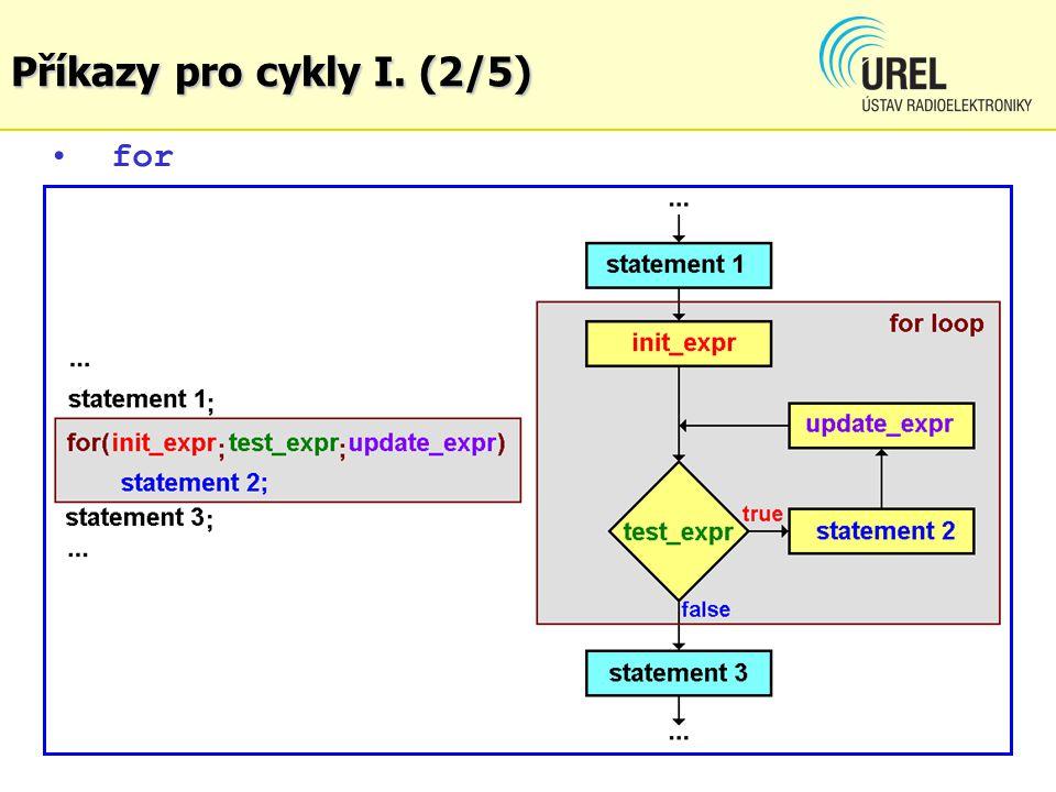 Příkazy pro cykly I. (2/5) for