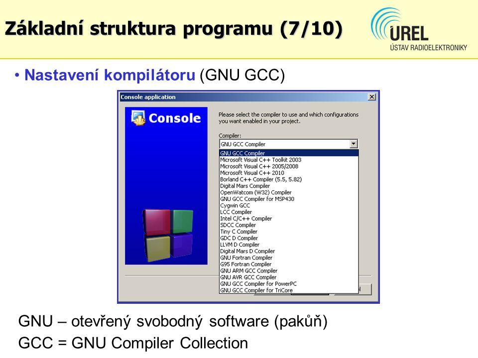 Základní struktura programu (7/10)