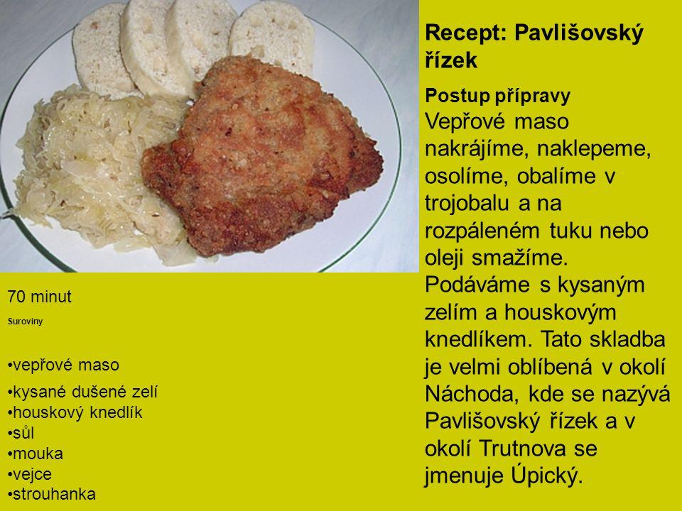 Recept: Pavlišovský řízek