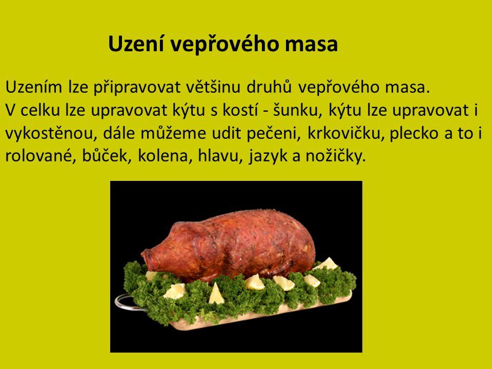 Uzení vepřového masa