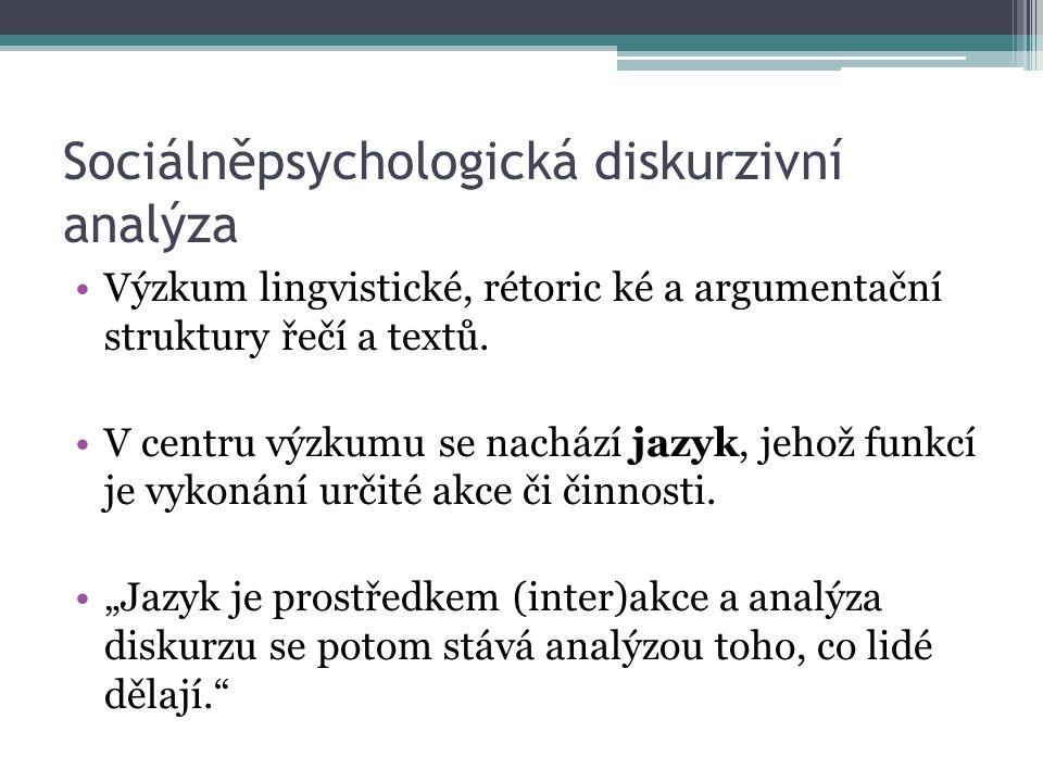 Sociálněpsychologická diskurzivní analýza