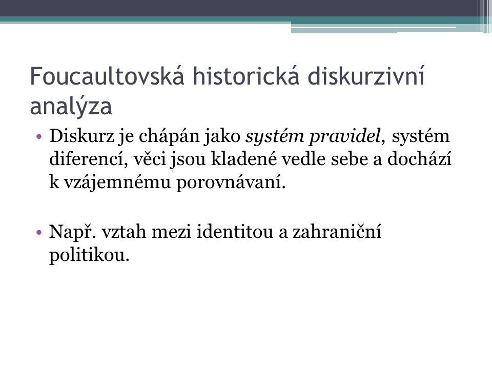 Foucaultovská historická diskurzivní analýza