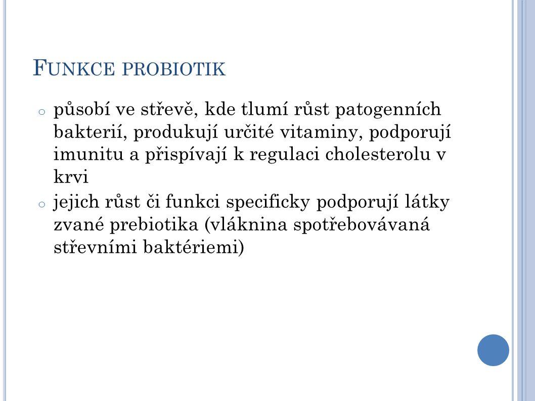 Funkce probiotik