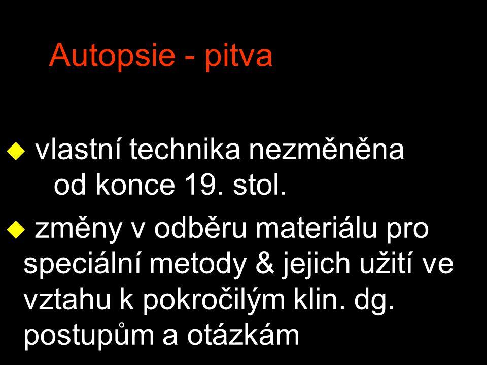 Autopsie - pitva vlastní technika nezměněna od konce 19. stol.