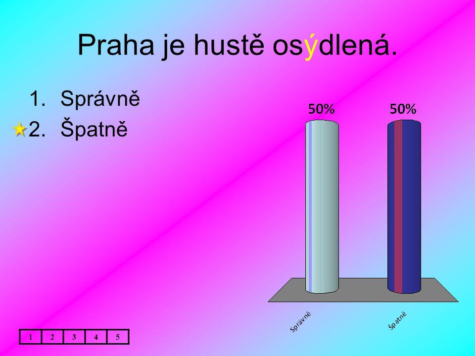 Praha je hustě osýdlená.