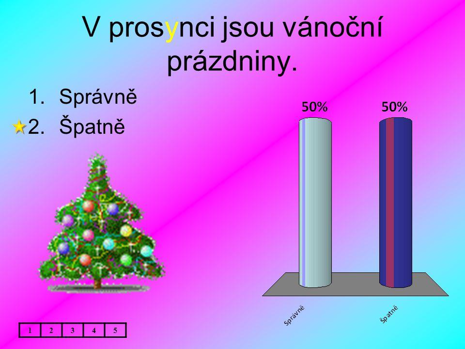 V prosynci jsou vánoční prázdniny.