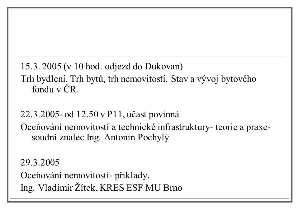 15.3. 2005 (v 10 hod. odjezd do Dukovan)