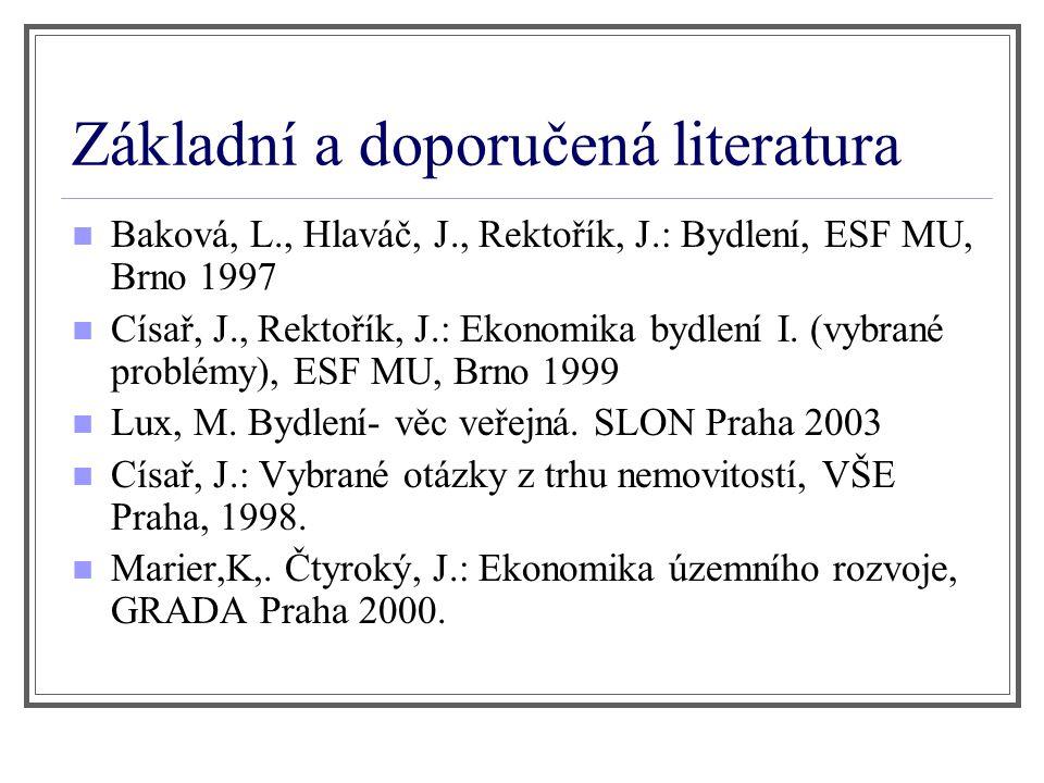 Základní a doporučená literatura