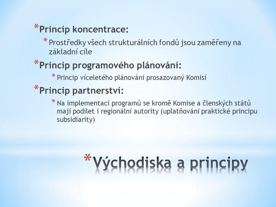 Východiska a principy Princip koncentrace: