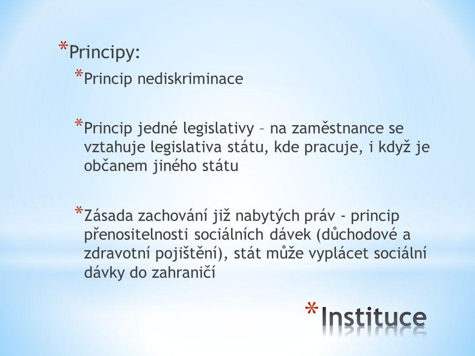 Instituce Principy: Princip nediskriminace