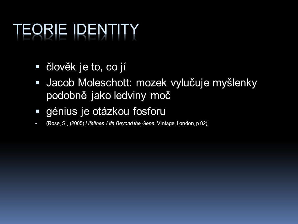 Teorie identity člověk je to, co jí