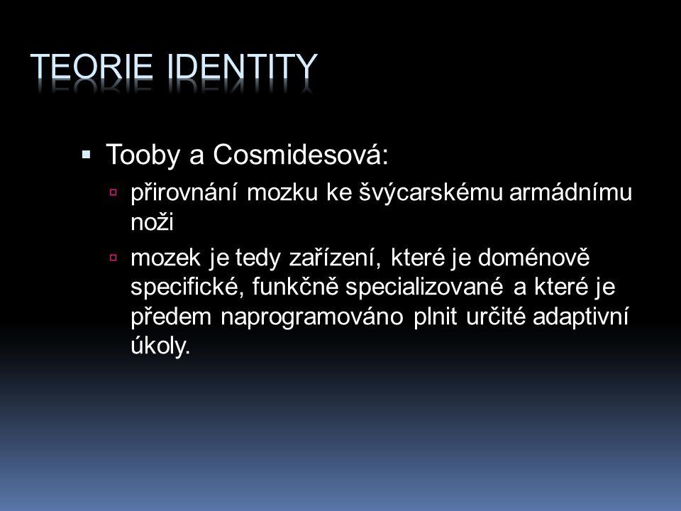 Teorie identity Tooby a Cosmidesová: