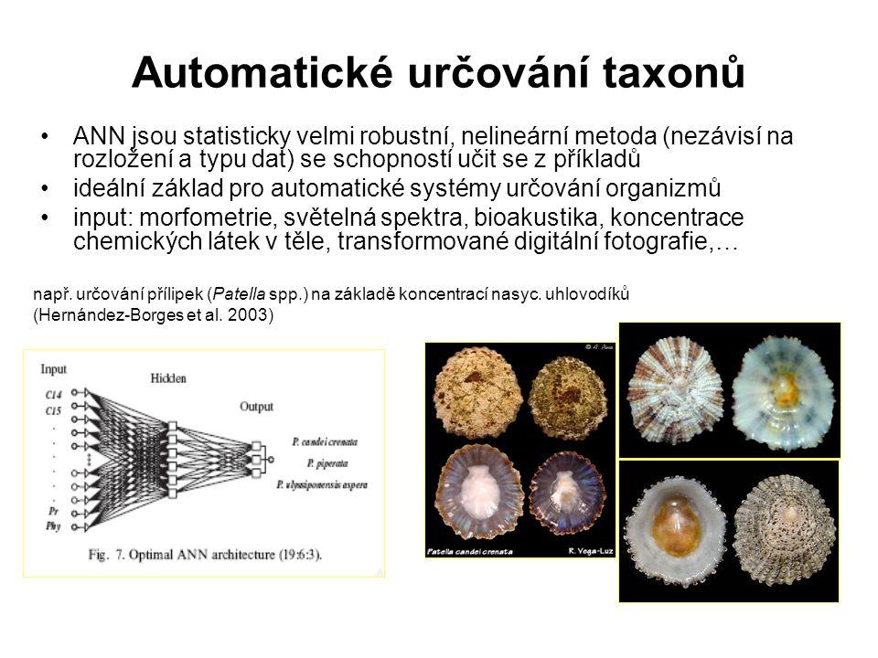 Automatické určování taxonů