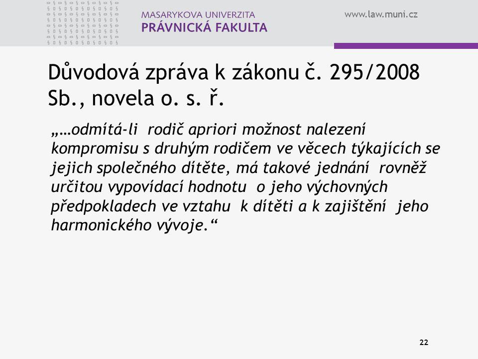Důvodová zpráva k zákonu č. 295/2008 Sb., novela o. s. ř.