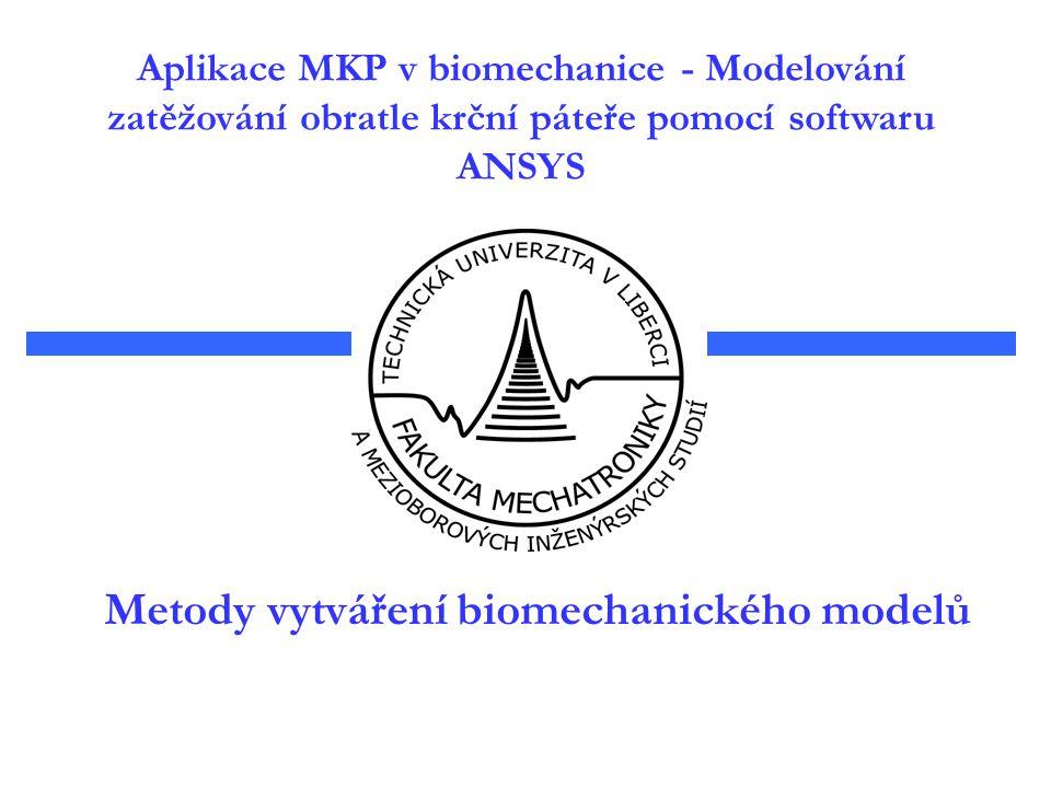 Metody vytváření biomechanického modelů