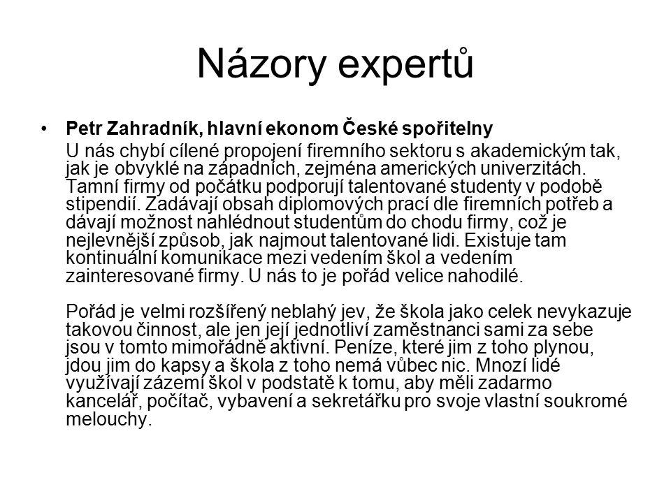 Názory expertů Petr Zahradník, hlavní ekonom České spořitelny