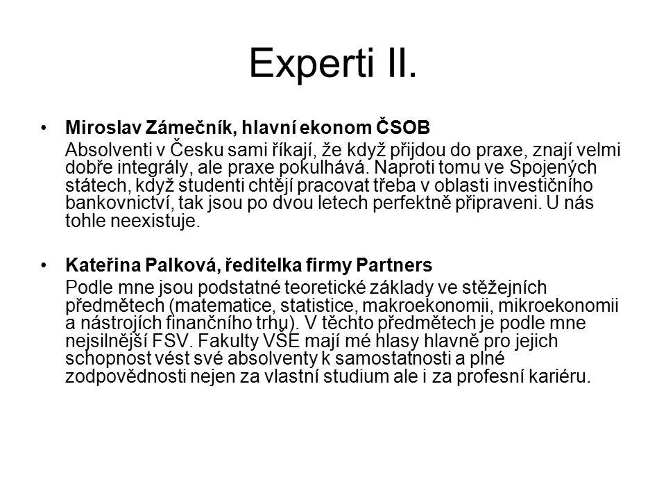 Experti II. Miroslav Zámečník, hlavní ekonom ČSOB