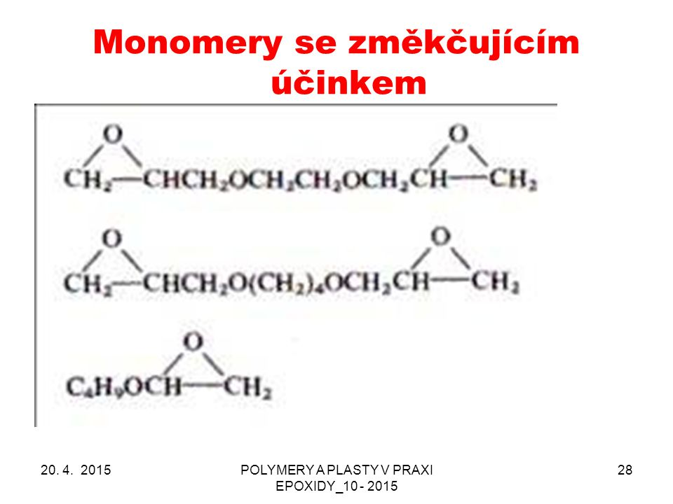 Monomery se změkčujícím účinkem