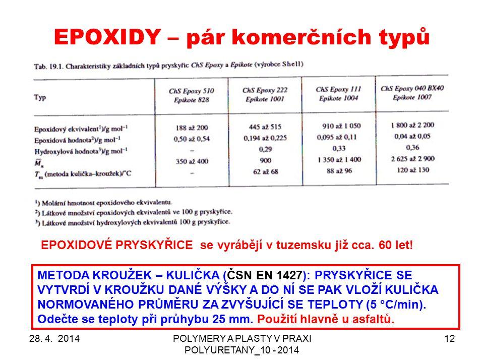 EPOXIDY – pár komerčních typů