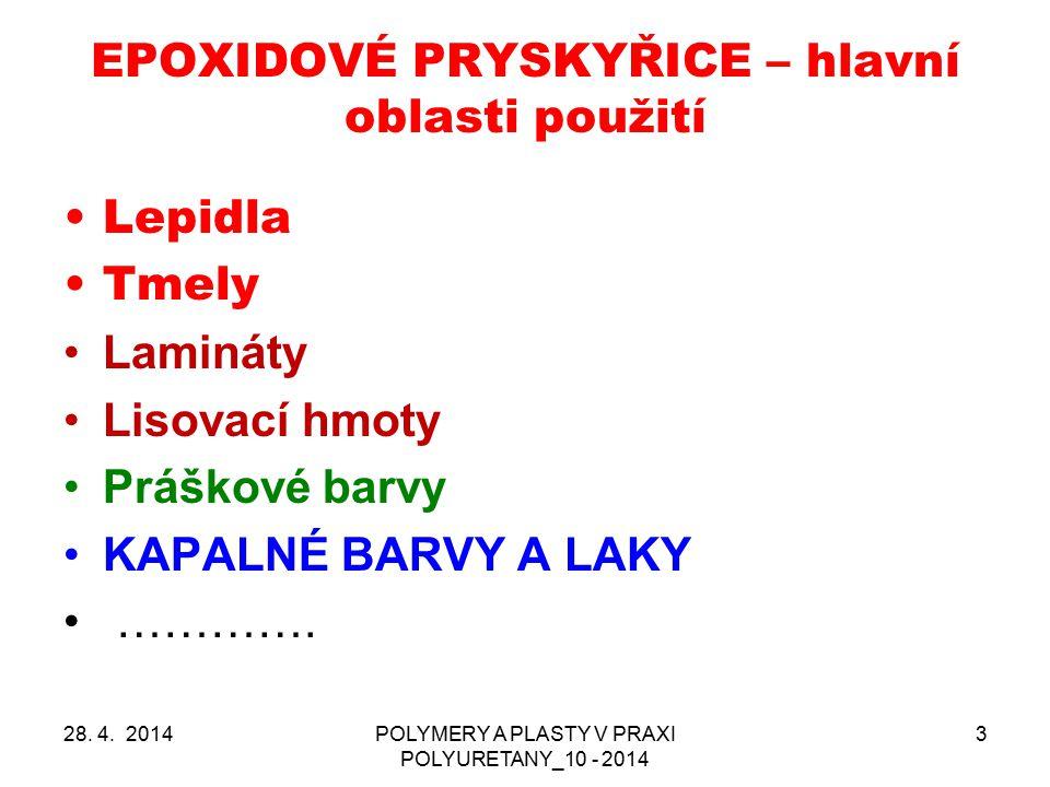 EPOXIDOVÉ PRYSKYŘICE – hlavní oblasti použití