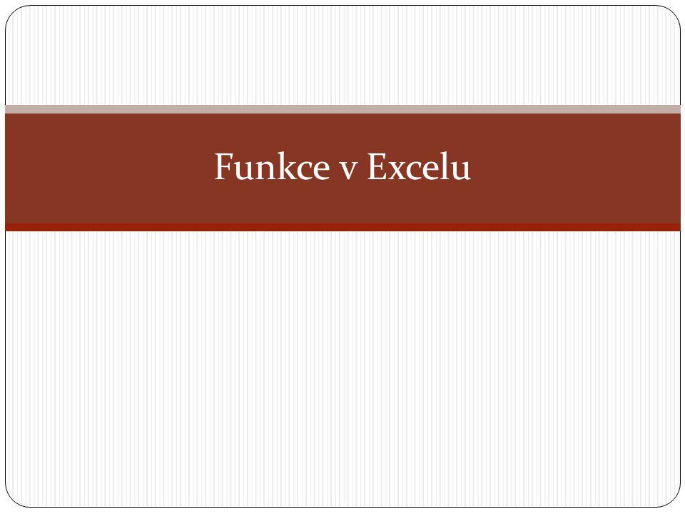 Funkce v Excelu