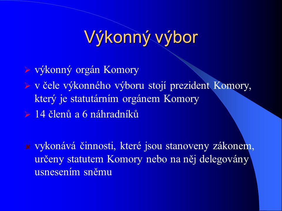 Výkonný výbor výkonný orgán Komory