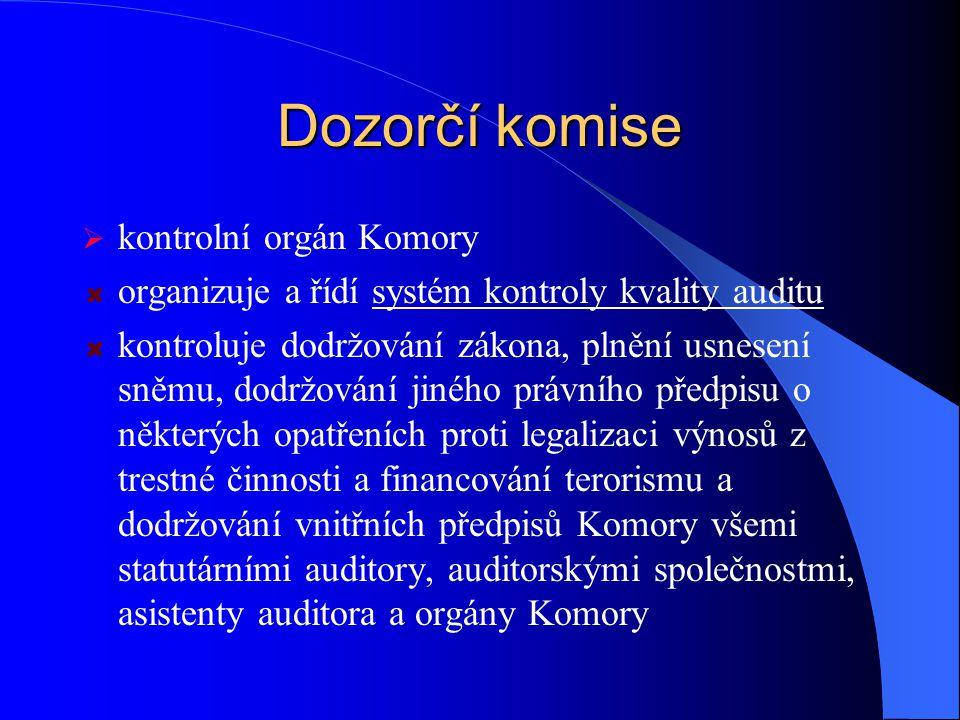 Dozorčí komise kontrolní orgán Komory
