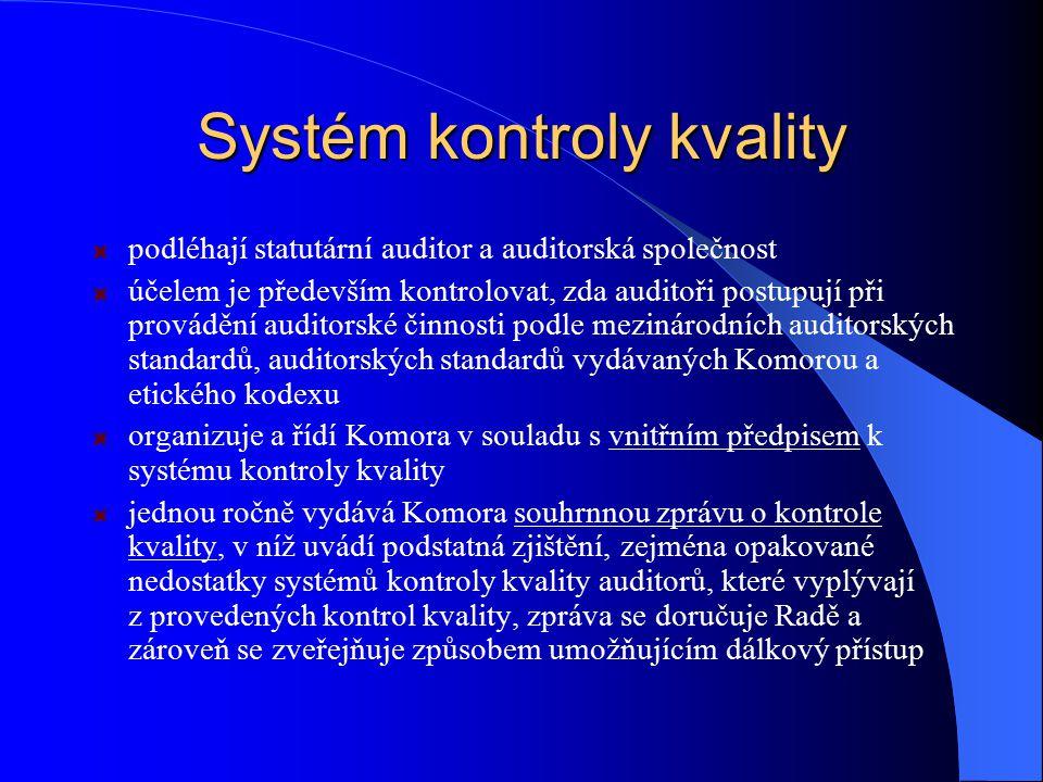 Systém kontroly kvality