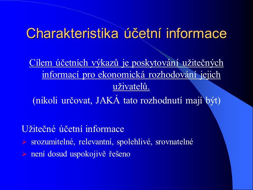 Charakteristika účetní informace