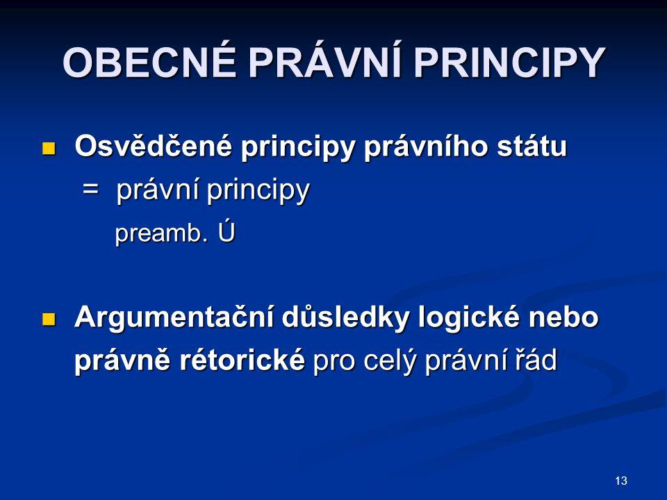 OBECNÉ PRÁVNÍ PRINCIPY