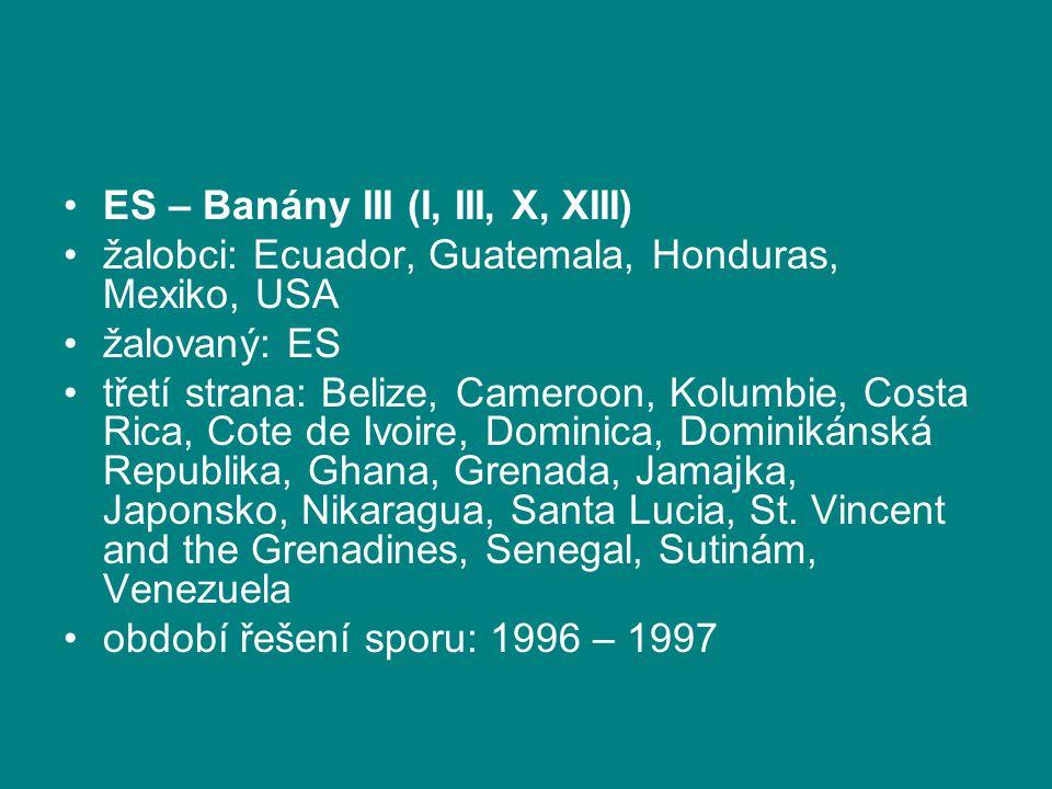 ES – Banány III (I, III, X, XIII)