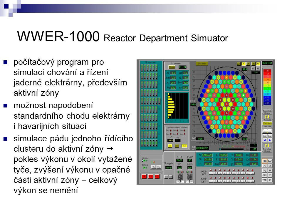 WWER-1000 Reactor Department Simuator