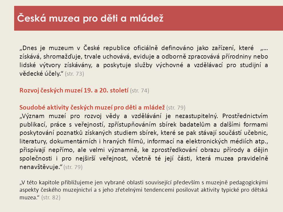 Česká muzea pro děti a mládež