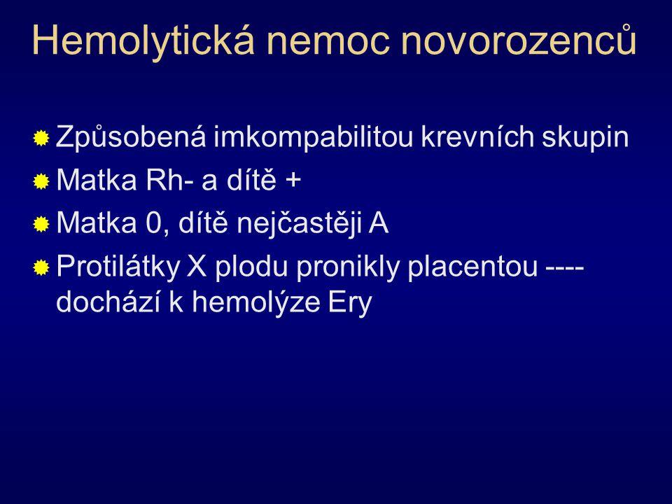 Hemolytická nemoc novorozenců