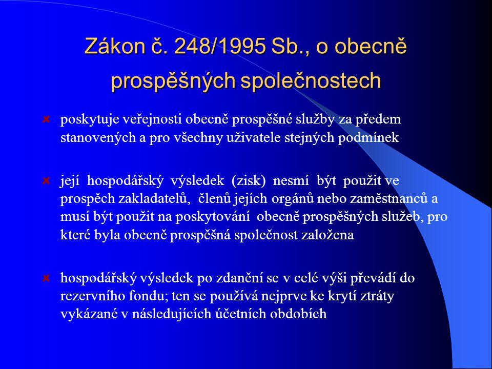 Zákon č. 248/1995 Sb., o obecně prospěšných společnostech
