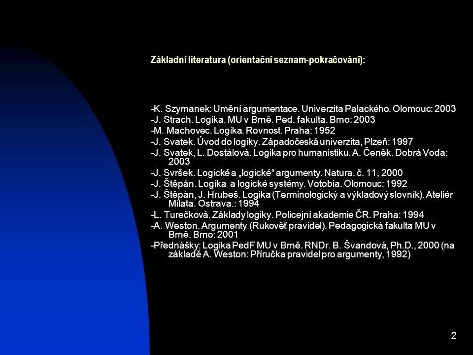 Základní literatura (orientační seznam-pokračování):
