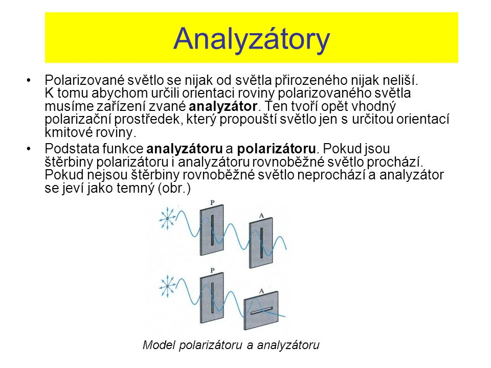 Analyzátory