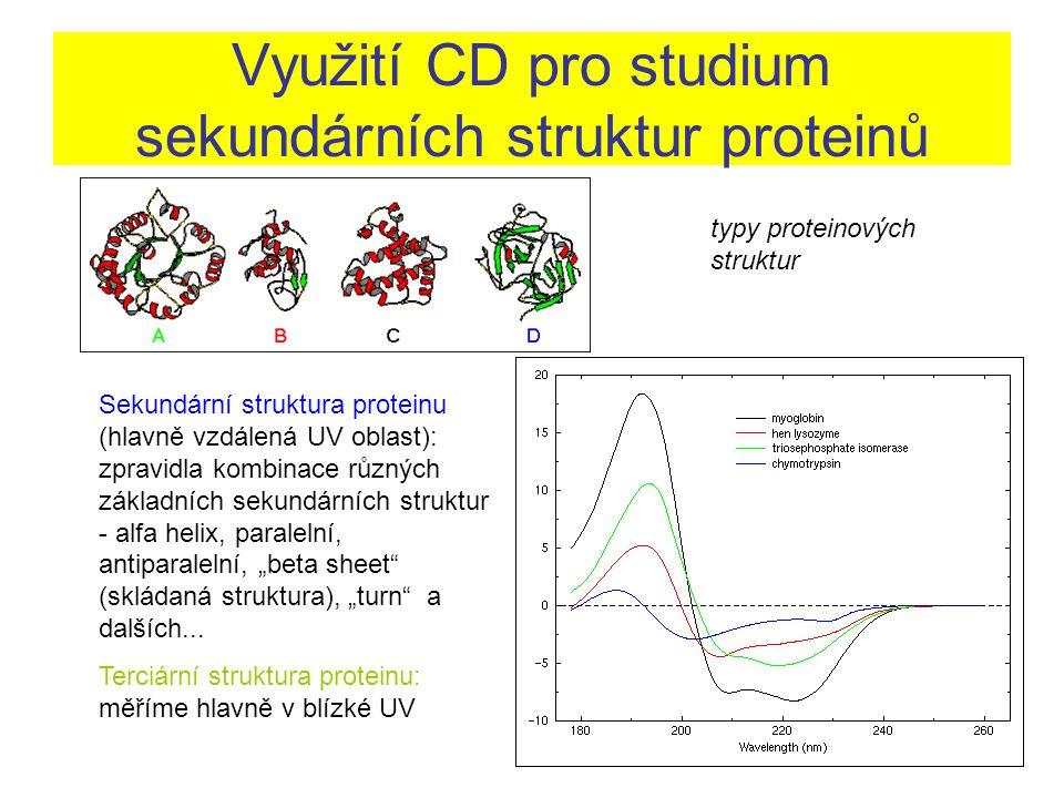 Využití CD pro studium sekundárních struktur proteinů