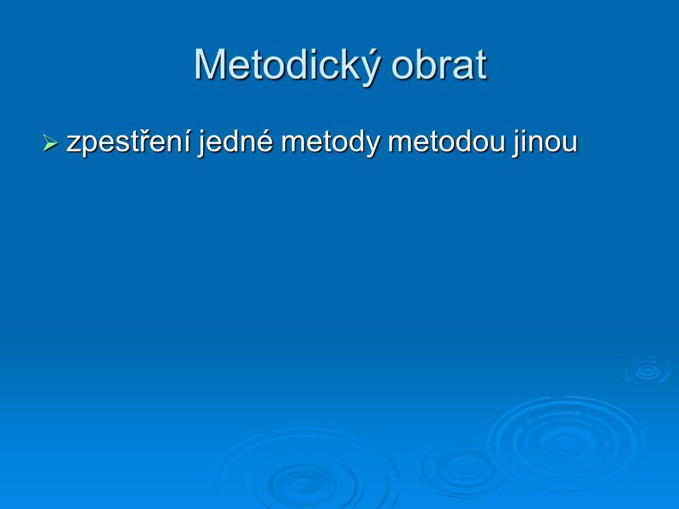 Metodický obrat zpestření jedné metody metodou jinou